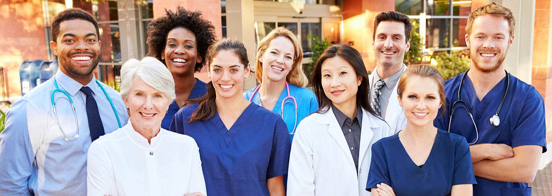 group of nurse and doctors