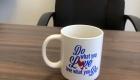 desk with mug